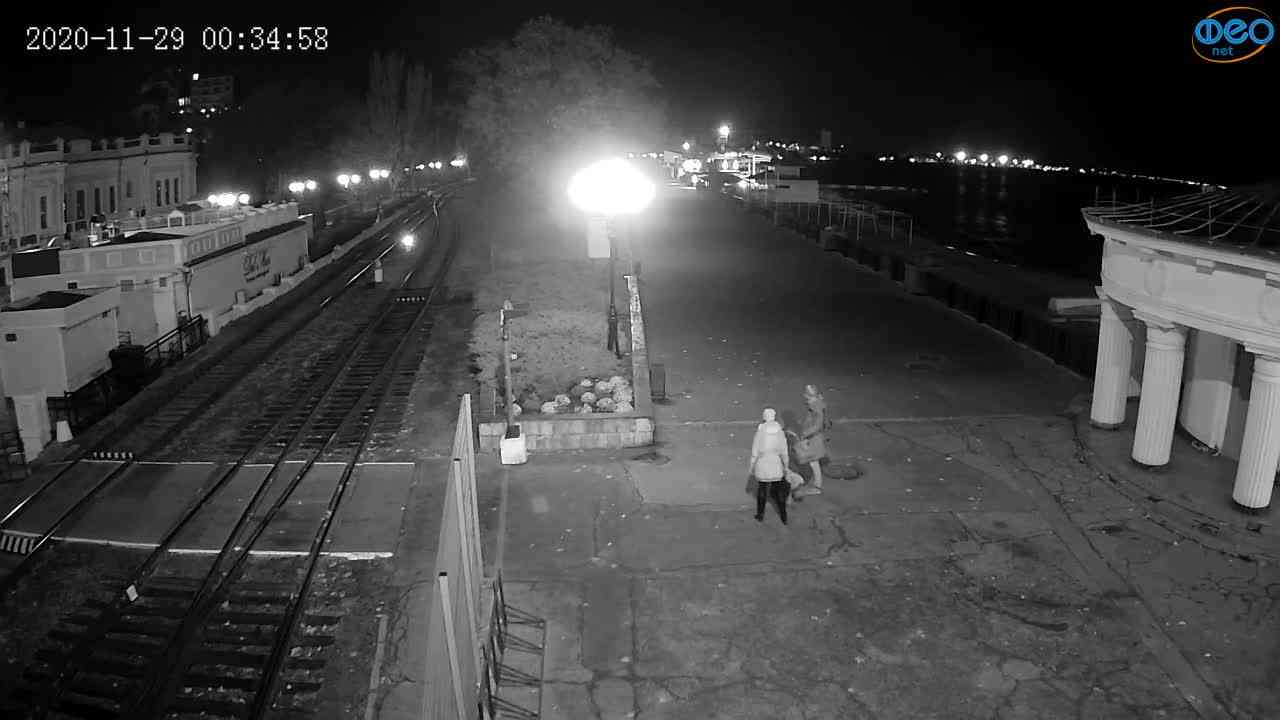 Веб-камеры Феодосии, Набережная, 2020-11-29 00:35:09