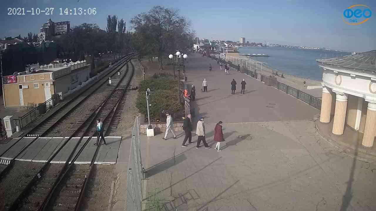 Веб-камеры Феодосии, Набережная, 2021-10-27 14:13:17