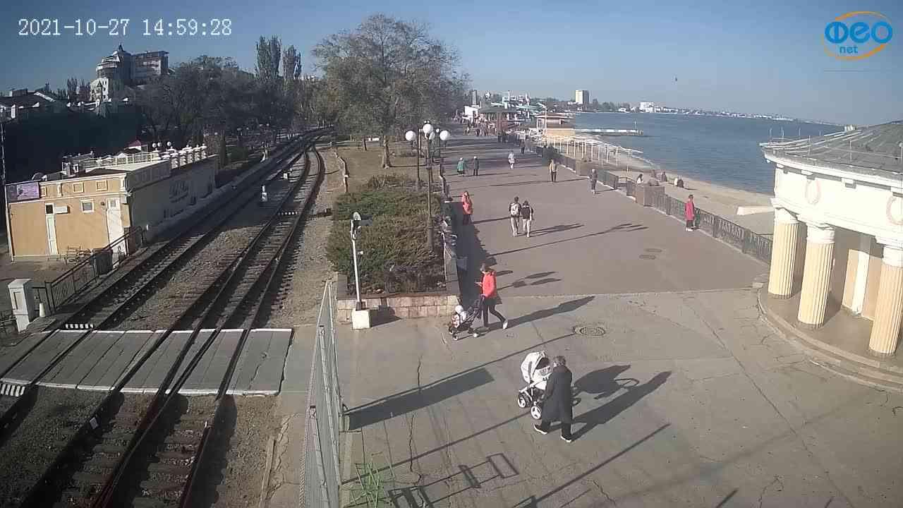 Веб-камеры Феодосии, Набережная, 2021-10-27 14:59:42