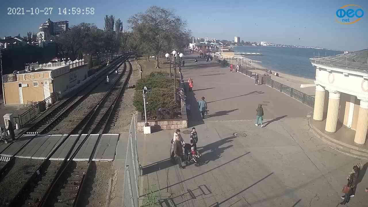 Веб-камеры Феодосии, Набережная, 2021-10-27 15:00:11