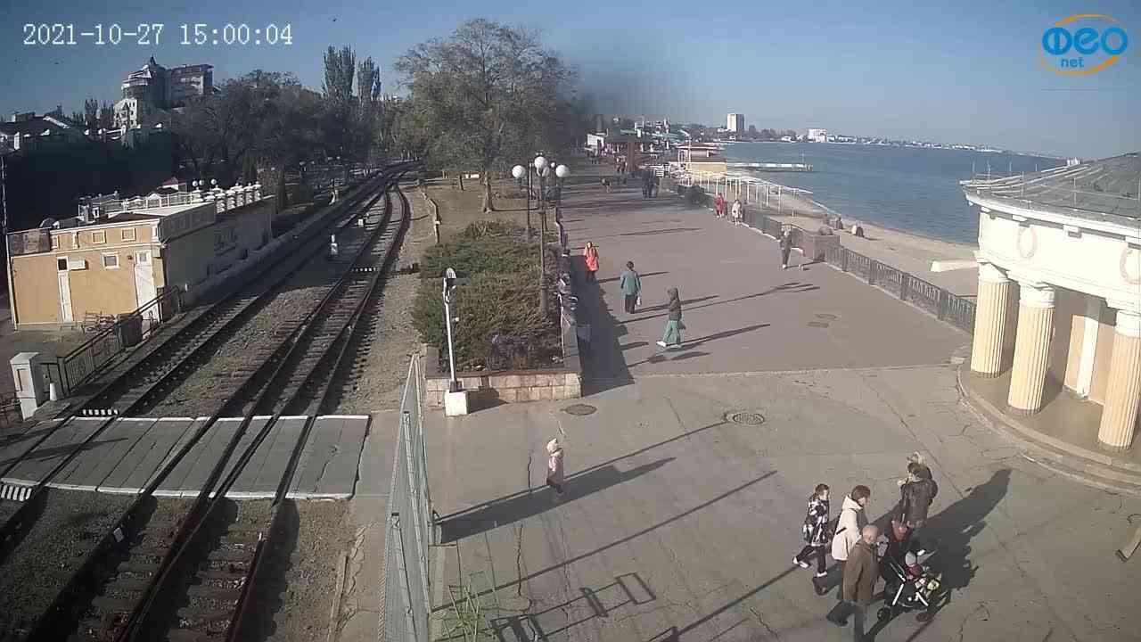 Веб-камеры Феодосии, Набережная, 2021-10-27 15:00:18