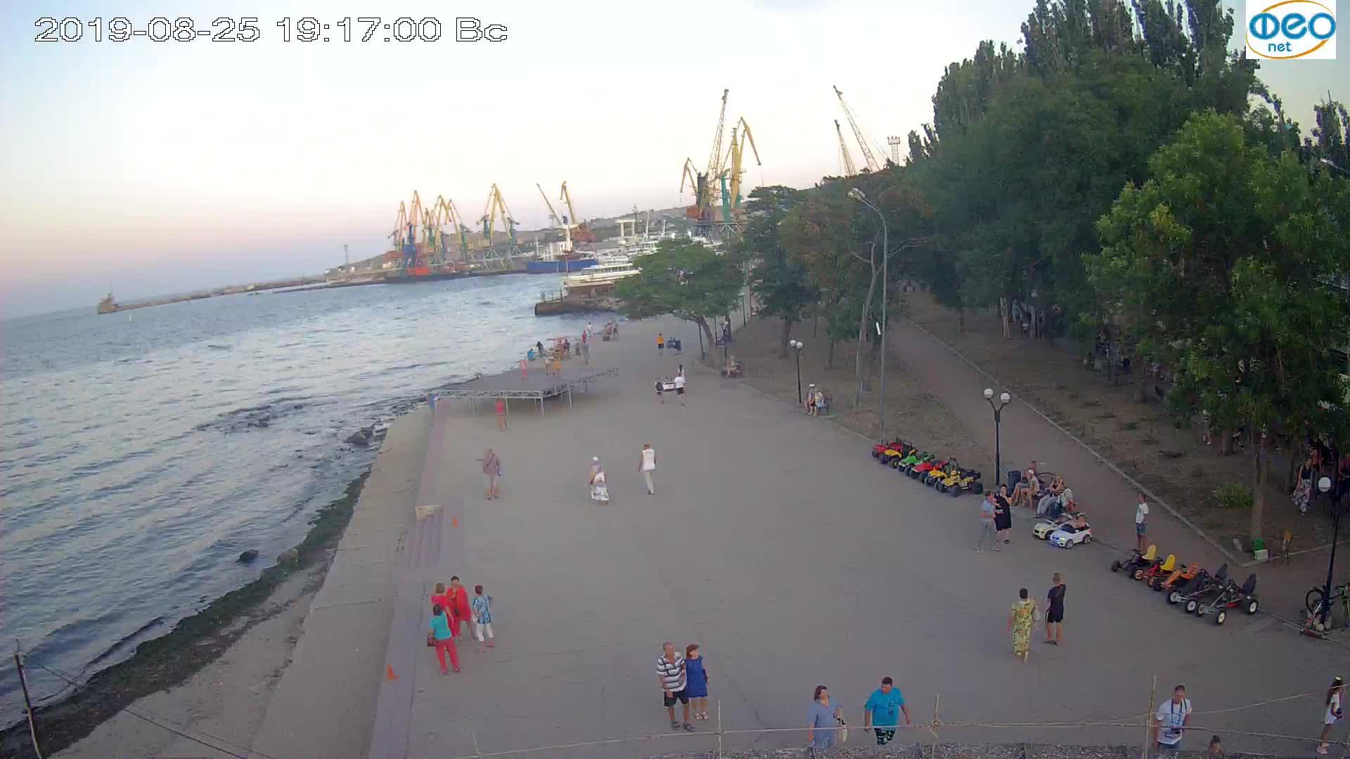 Веб-камеры Феодосии, Набережная Десантников, 2019-08-25 19:20:08