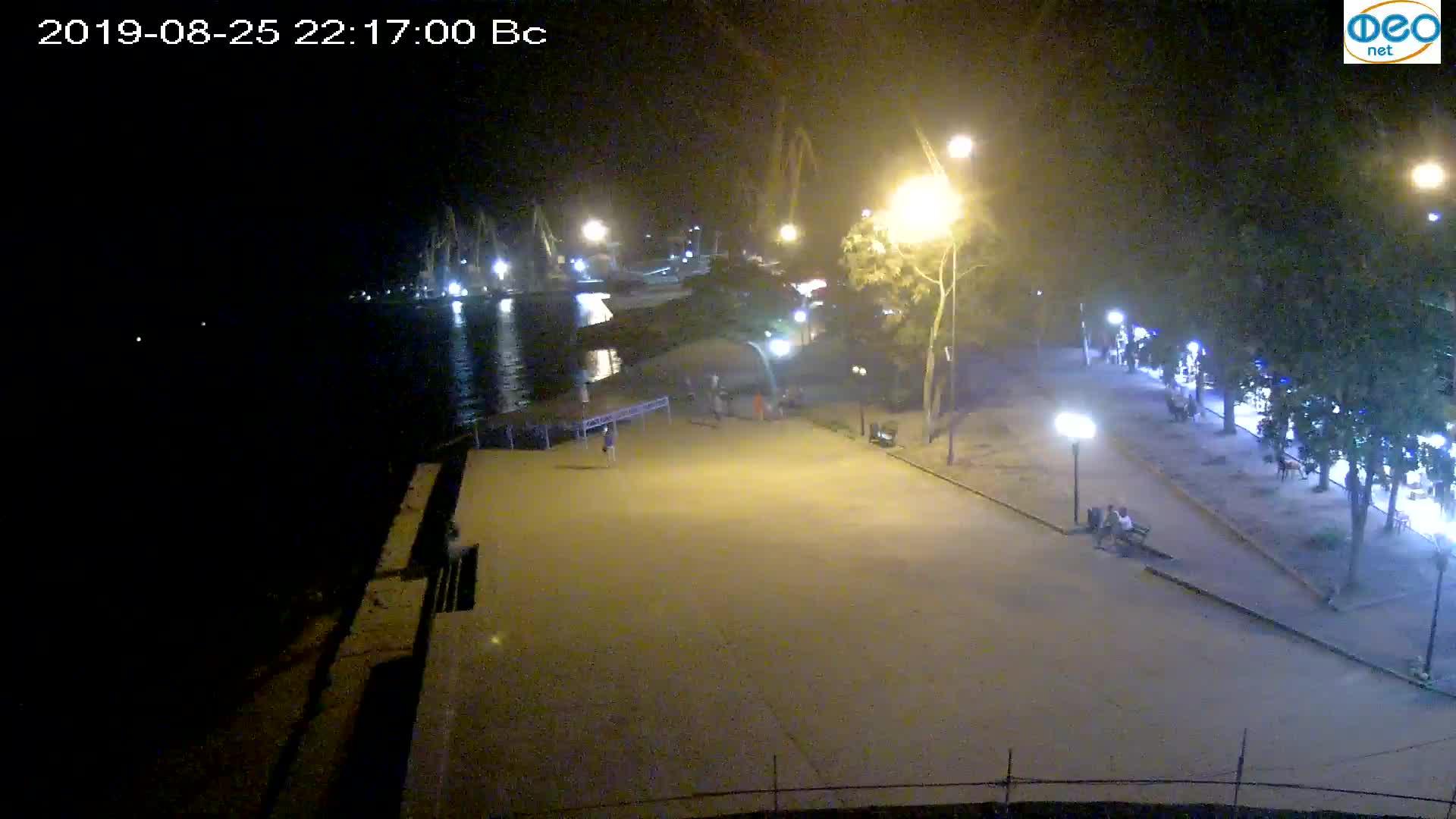 Веб-камеры Феодосии, Набережная Десантников, 2019-08-25 22:20:08
