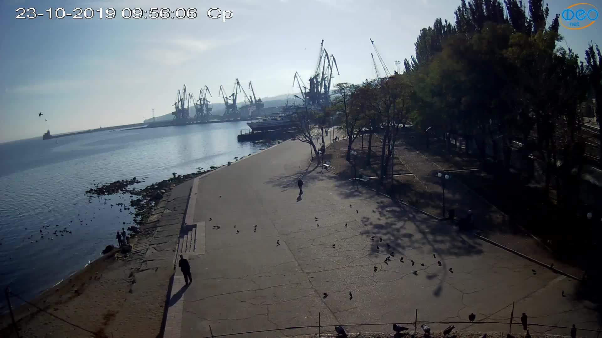 Веб-камеры Феодосии, Набережная Десантников, 2019-10-23 09:56:16
