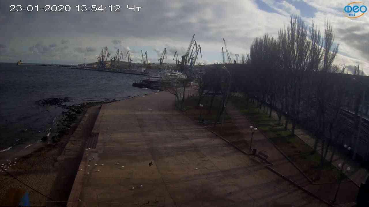 Веб-камеры Феодосии, Набережная Десантников, 2020-01-23 13:55:11