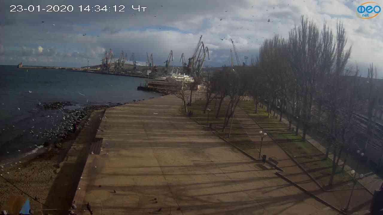 Веб-камеры Феодосии, Набережная Десантников, 2020-01-23 14:35:11