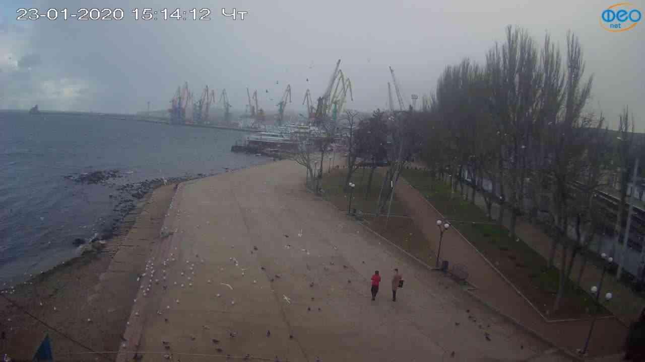 Веб-камеры Феодосии, Набережная Десантников, 2020-01-23 15:15:11