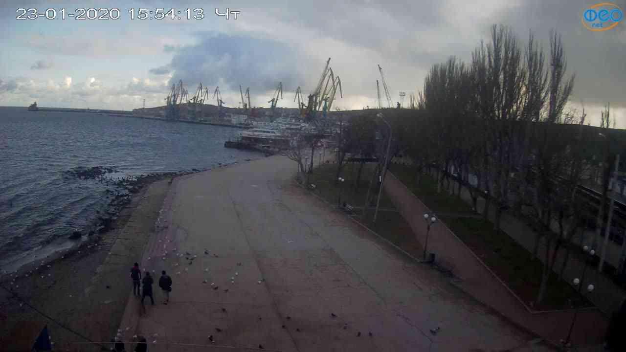 Веб-камеры Феодосии, Набережная Десантников, 2020-01-23 15:55:11