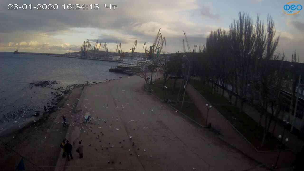 Веб-камеры Феодосии, Набережная Десантников, 2020-01-23 16:35:10