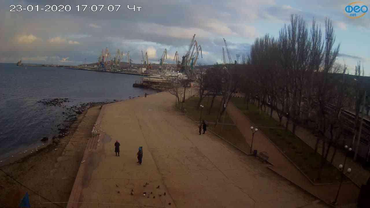 Веб-камеры Феодосии, Набережная Десантников, 2020-01-23 17:08:03