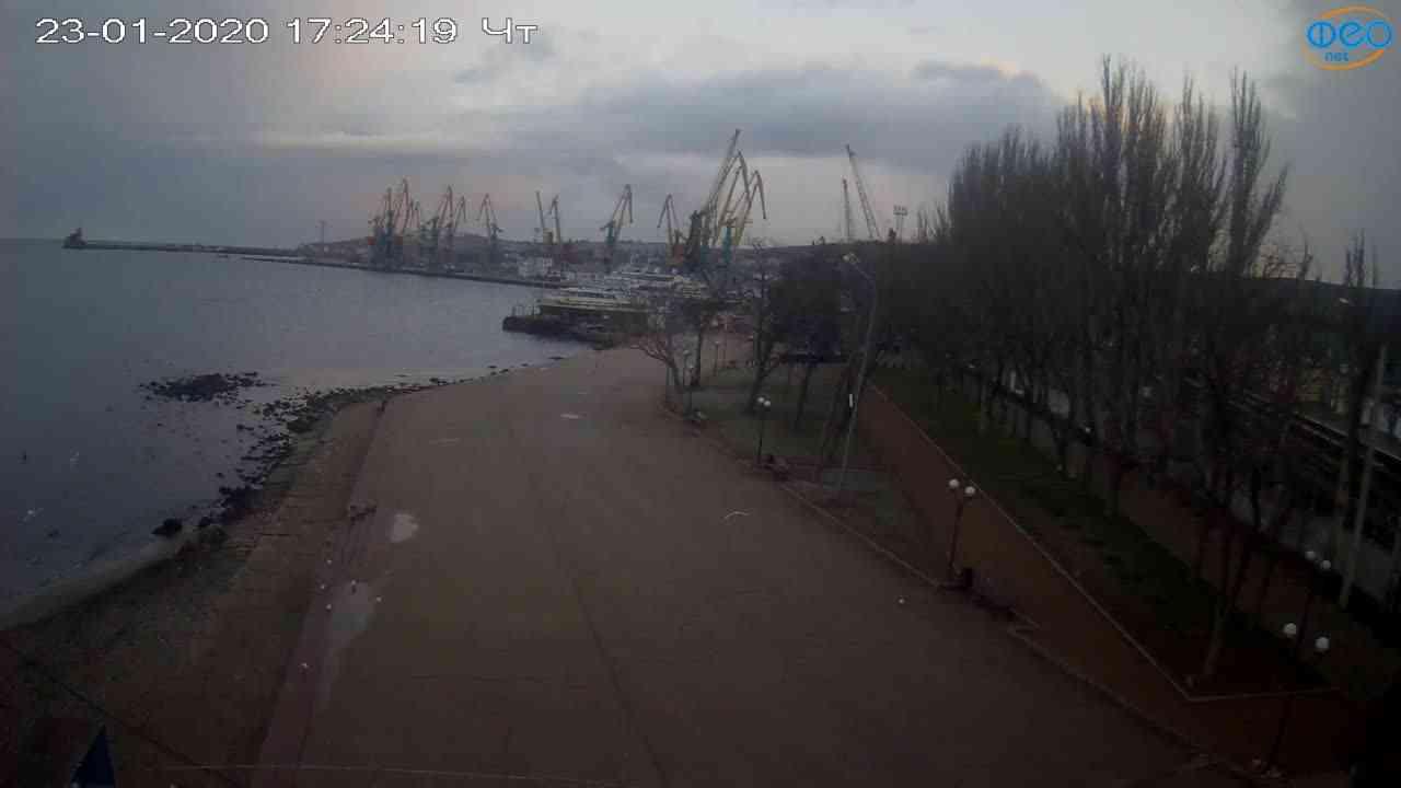 Веб-камеры Феодосии, Набережная Десантников, 2020-01-23 17:25:16