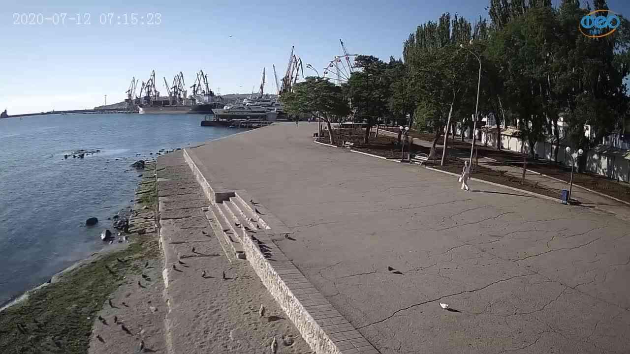 Веб-камеры Феодосии, Набережная Десантников, 2020-07-12 07:15:31