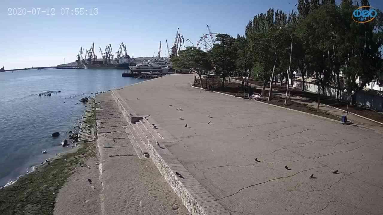 Веб-камеры Феодосии, Набережная Десантников, 2020-07-12 07:55:26