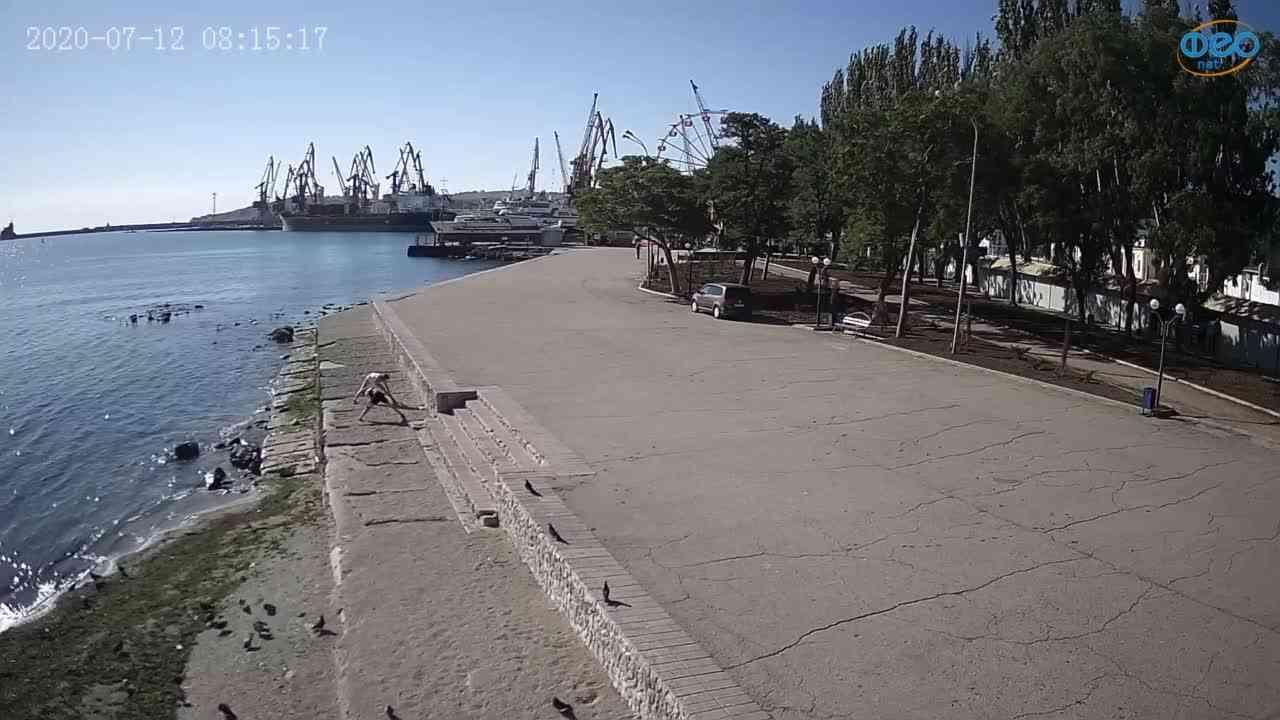 Веб-камеры Феодосии, Набережная Десантников, 2020-07-12 08:15:26