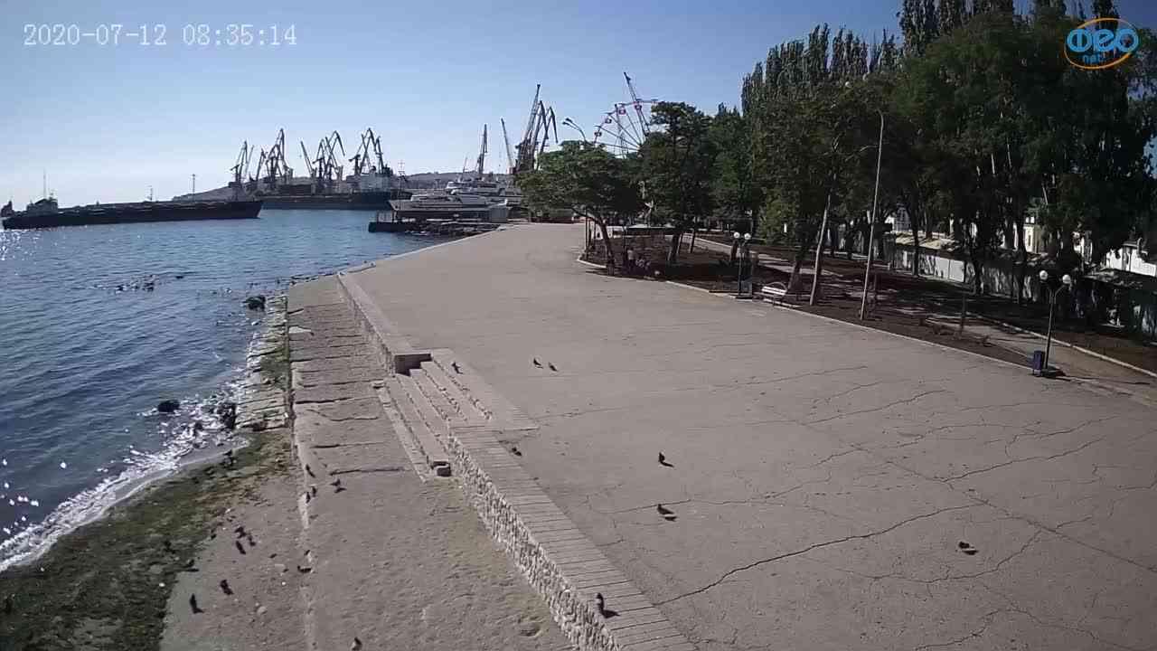 Веб-камеры Феодосии, Набережная Десантников, 2020-07-12 08:35:28