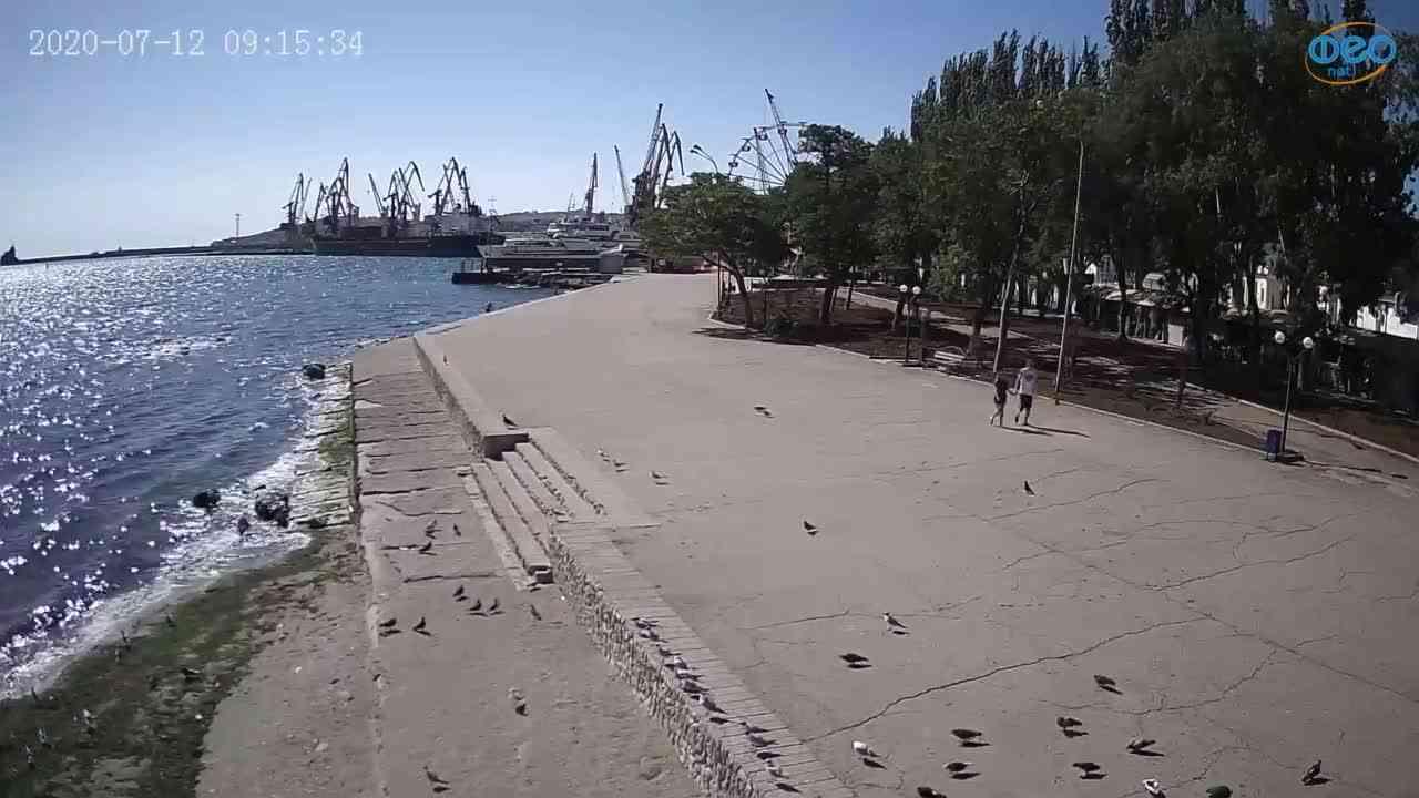 Веб-камеры Феодосии, Набережная Десантников, 2020-07-12 09:15:43