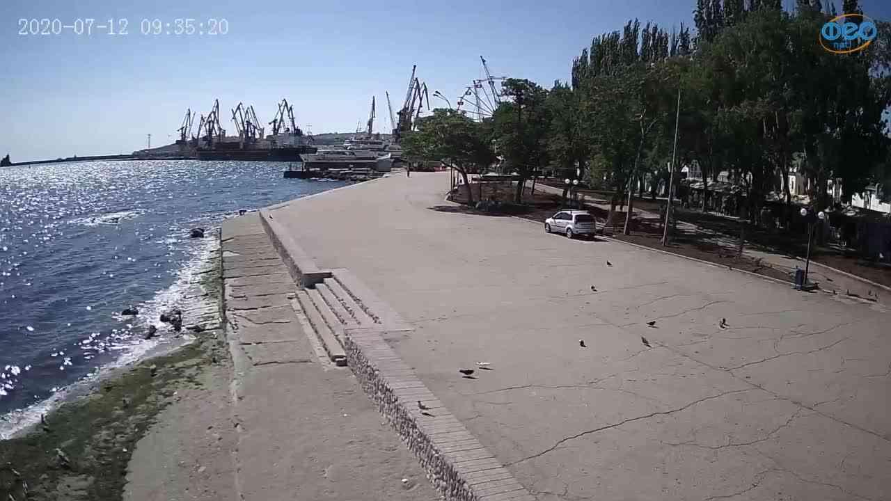 Веб-камеры Феодосии, Набережная Десантников, 2020-07-12 09:35:32