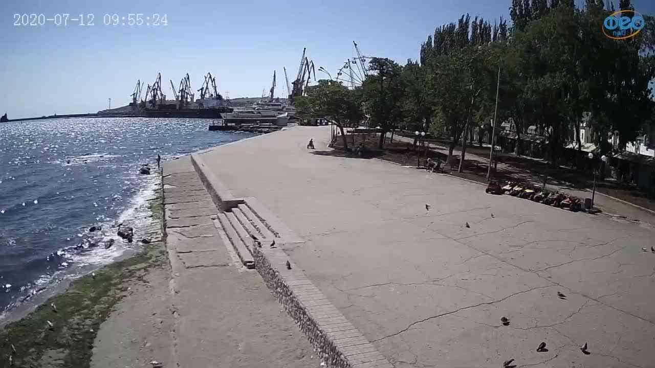 Веб-камеры Феодосии, Набережная Десантников, 2020-07-12 09:55:32