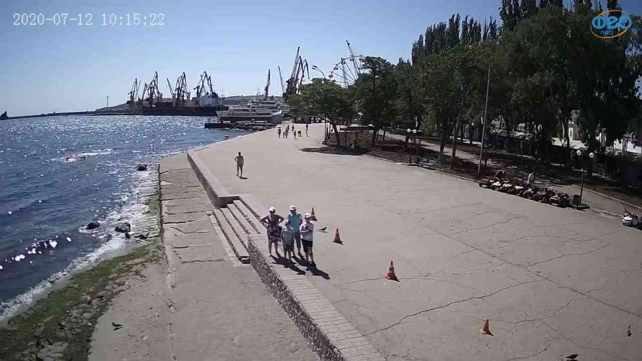 Веб-камеры Феодосии, Набережная Десантников, 2020-07-12 10:15:31