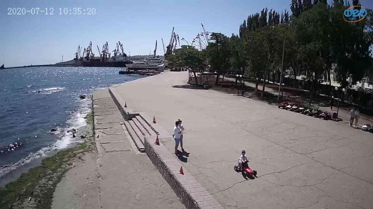 Веб-камеры Феодосии, Набережная Десантников, 2020-07-12 10:35:31