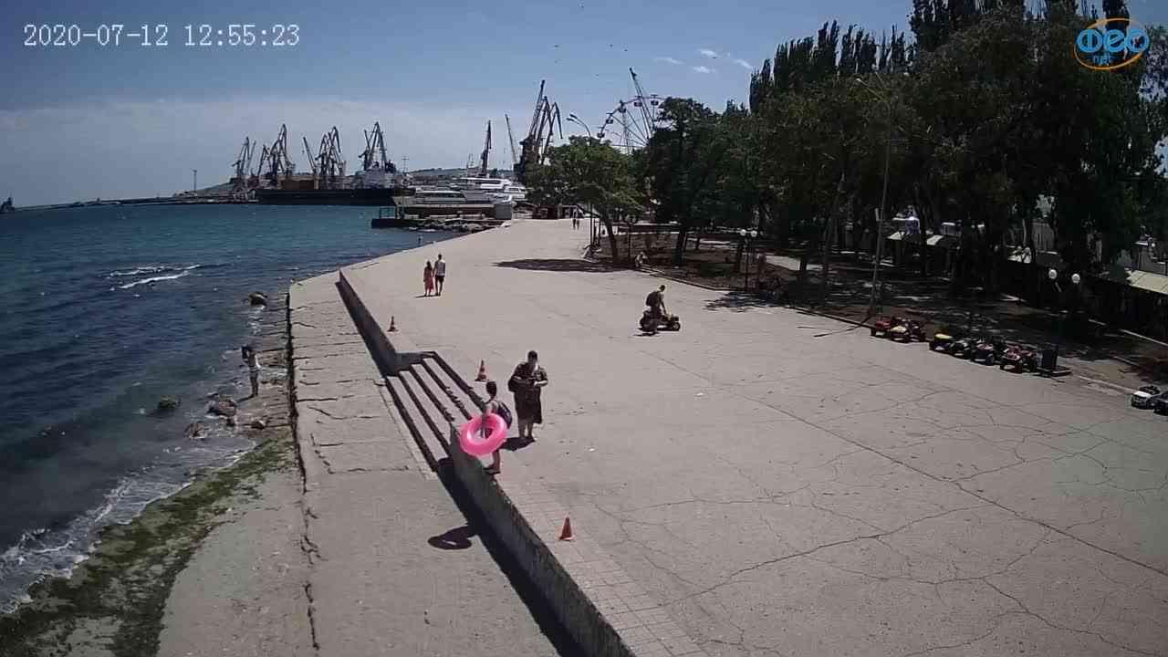 Веб-камеры Феодосии, Набережная Десантников, 2020-07-12 12:55:33