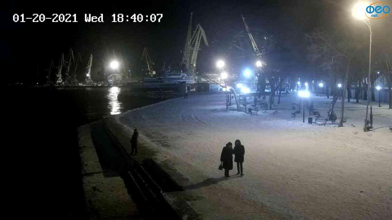 Веб-камеры Феодосии, Набережная Десантников, 2021-01-20 18:40:16