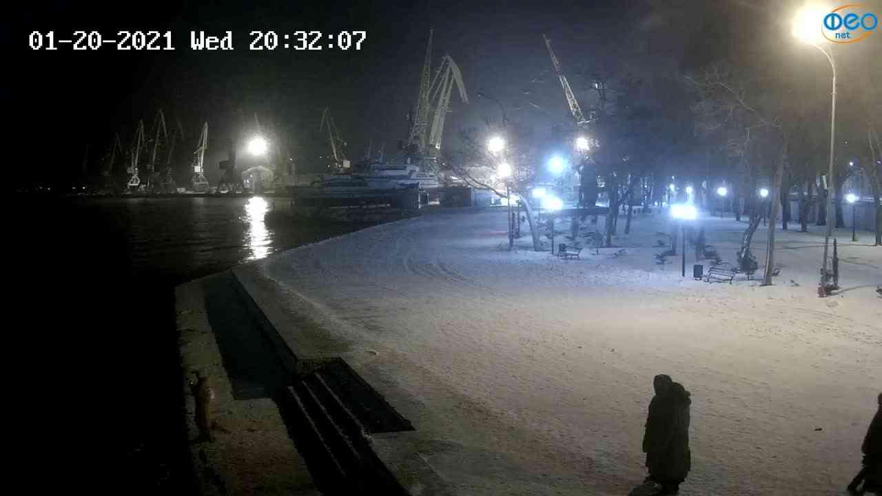 Веб-камеры Феодосии, Набережная Десантников, 2021-01-20 20:32:19