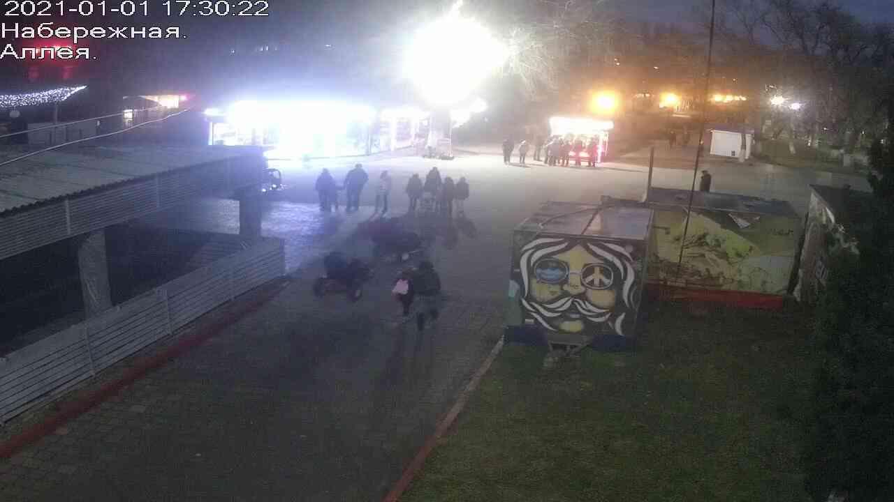 Веб-камеры Керчи, Прогулочная зона набережной, 2021-01-01 17:30:23