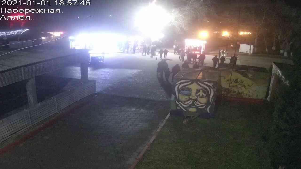 Веб-камеры Керчи, Прогулочная зона набережной, 2021-01-01 18:57:47