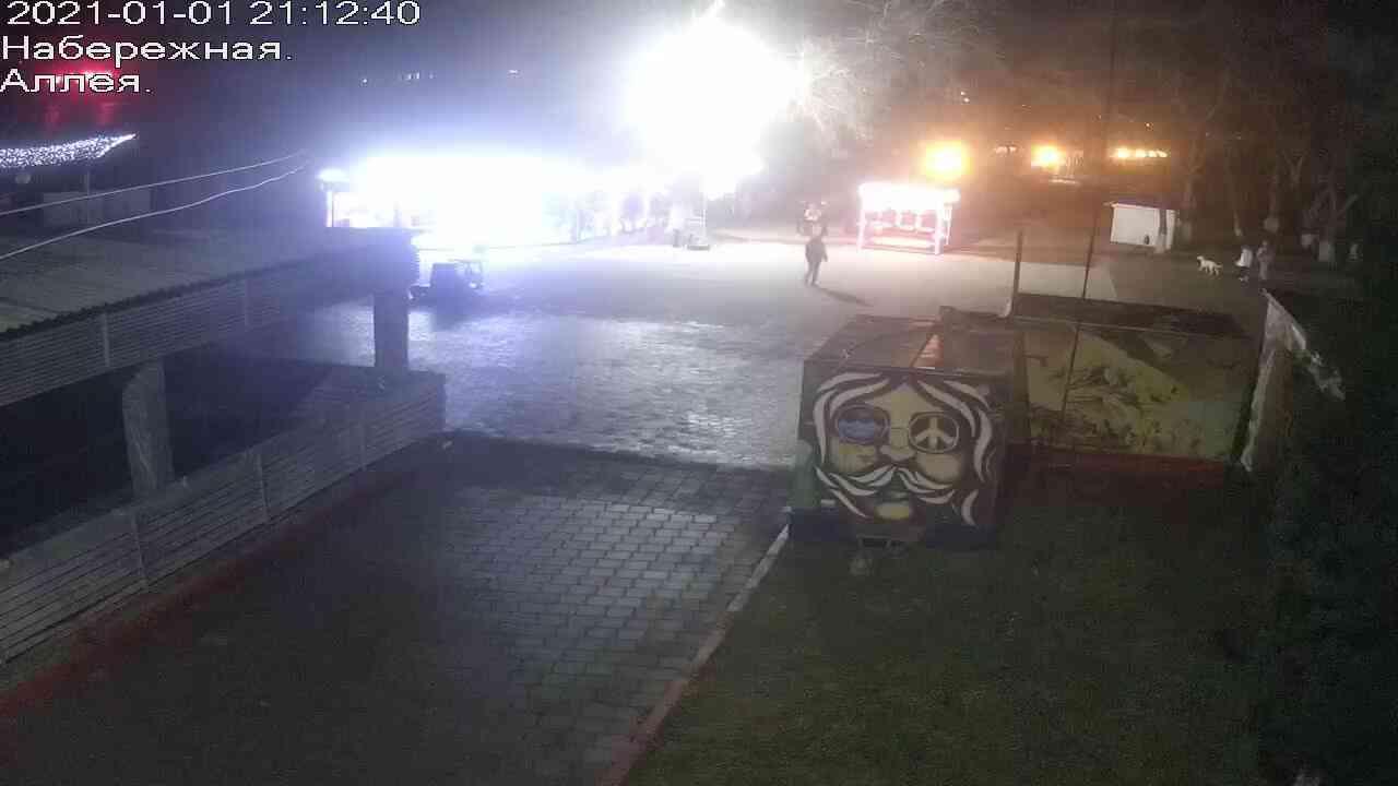 Веб-камеры Керчи, Прогулочная зона набережной, 2021-01-01 21:12:41