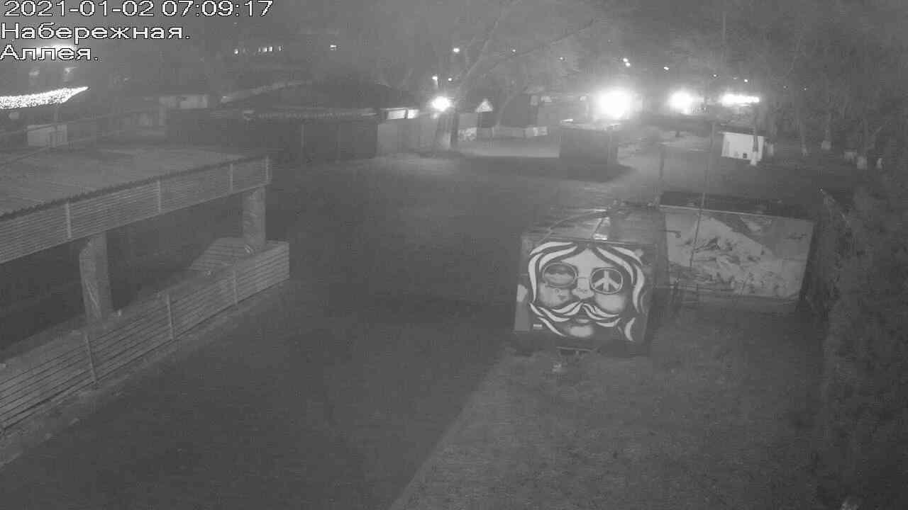 Веб-камеры Керчи, Прогулочная зона набережной, 2021-01-02 07:09:18