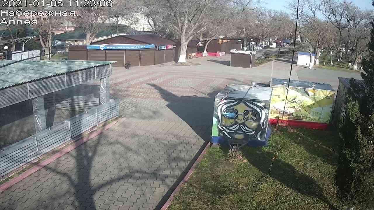 Веб-камеры Керчи, Прогулочная зона набережной, 2021-01-05 11:23:07