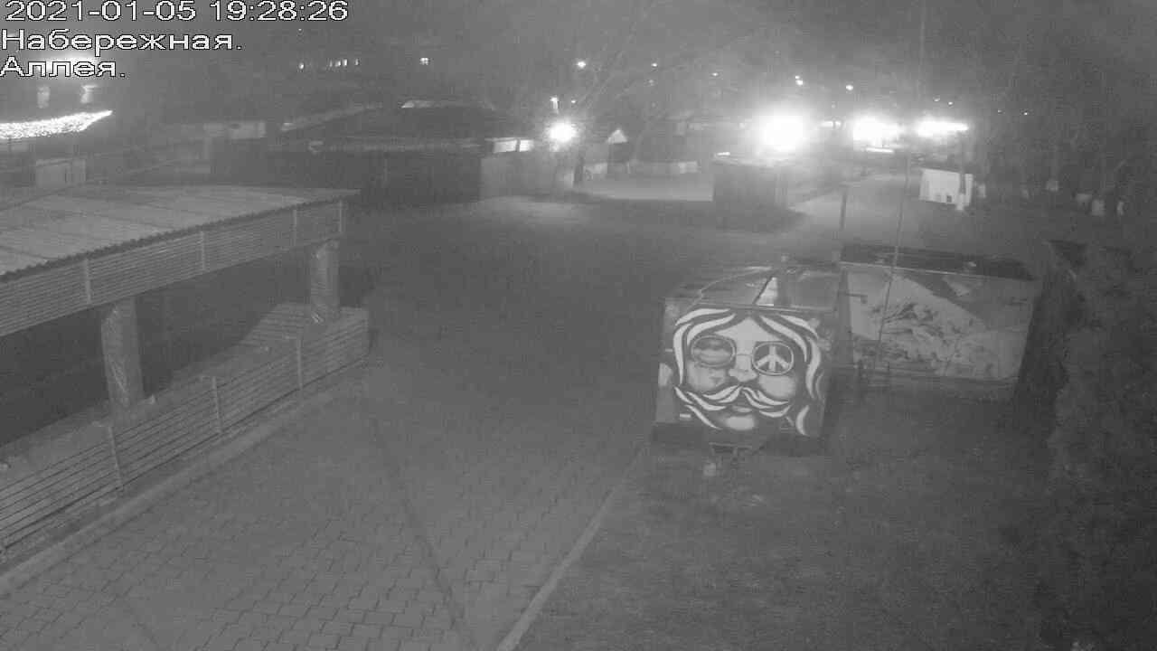 Веб-камеры Керчи, Прогулочная зона набережной, 2021-01-05 19:28:27