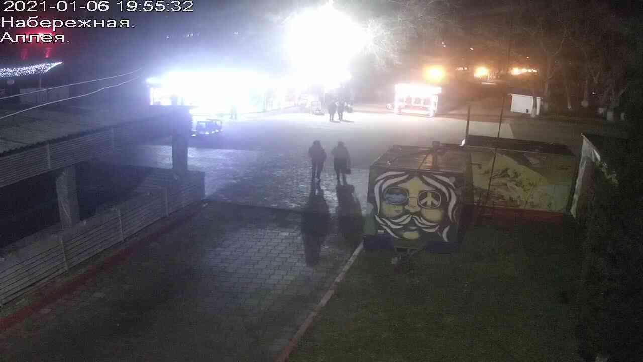 Веб-камеры Керчи, Прогулочная зона набережной, 2021-01-06 19:55:33