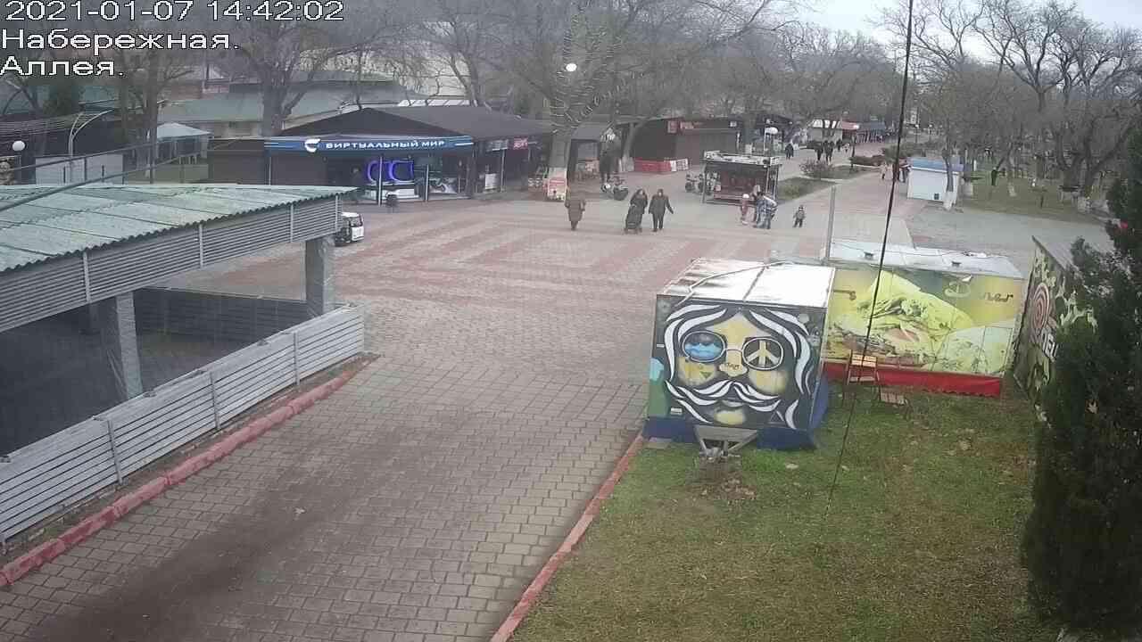 Веб-камеры Керчи, Прогулочная зона набережной, 2021-01-07 14:42:03