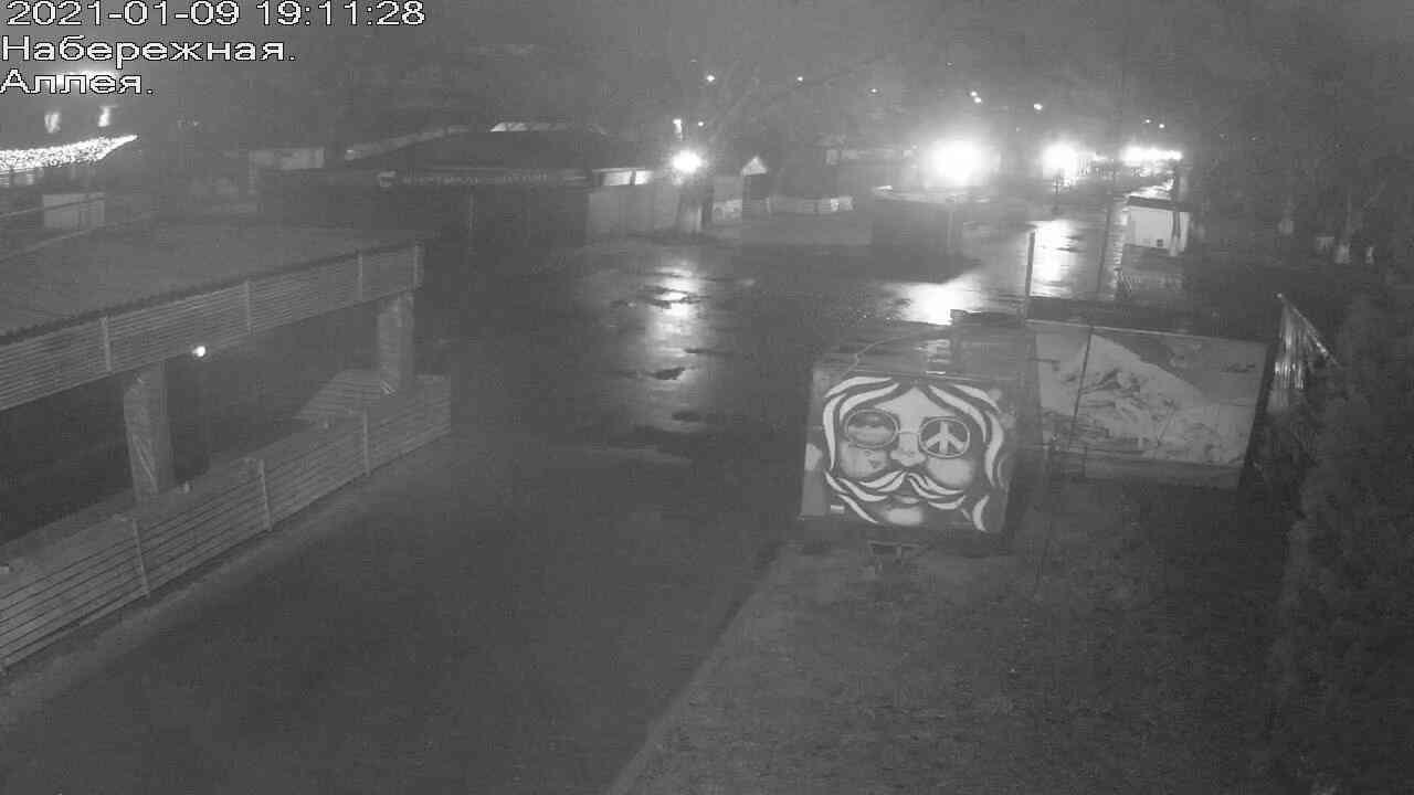 Веб-камеры Керчи, Прогулочная зона набережной, 2021-01-09 19:11:29
