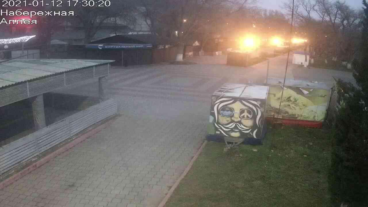 Веб-камеры Керчи, Прогулочная зона набережной, 2021-01-12 17:30:21