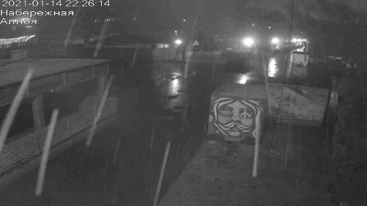 Веб-камеры Керчи, Прогулочная зона набережной, 2021-01-14 22:26:15