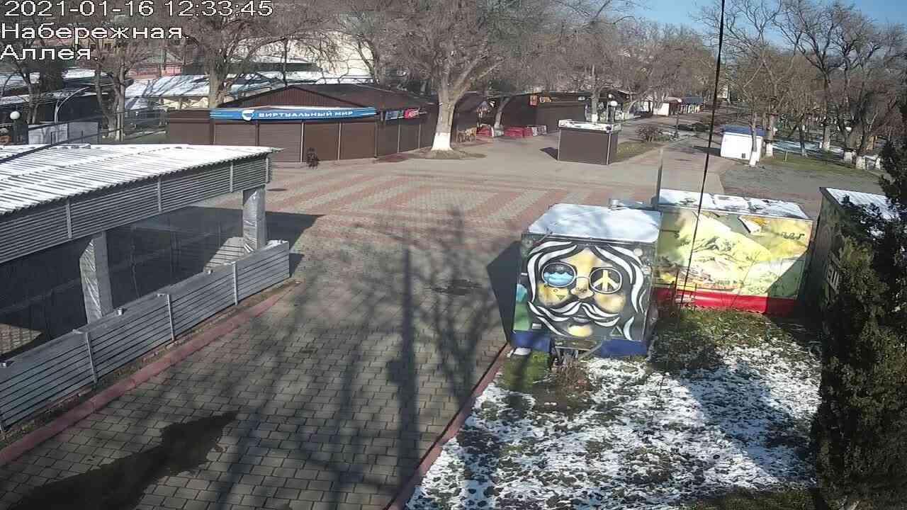 Веб-камеры Керчи, Прогулочная зона набережной, 2021-01-16 12:33:45