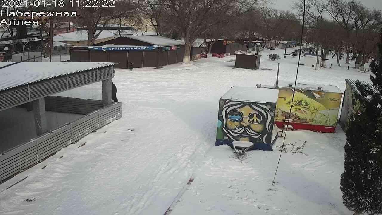Веб-камеры Керчи, Прогулочная зона набережной, 2021-01-18 11:22:23