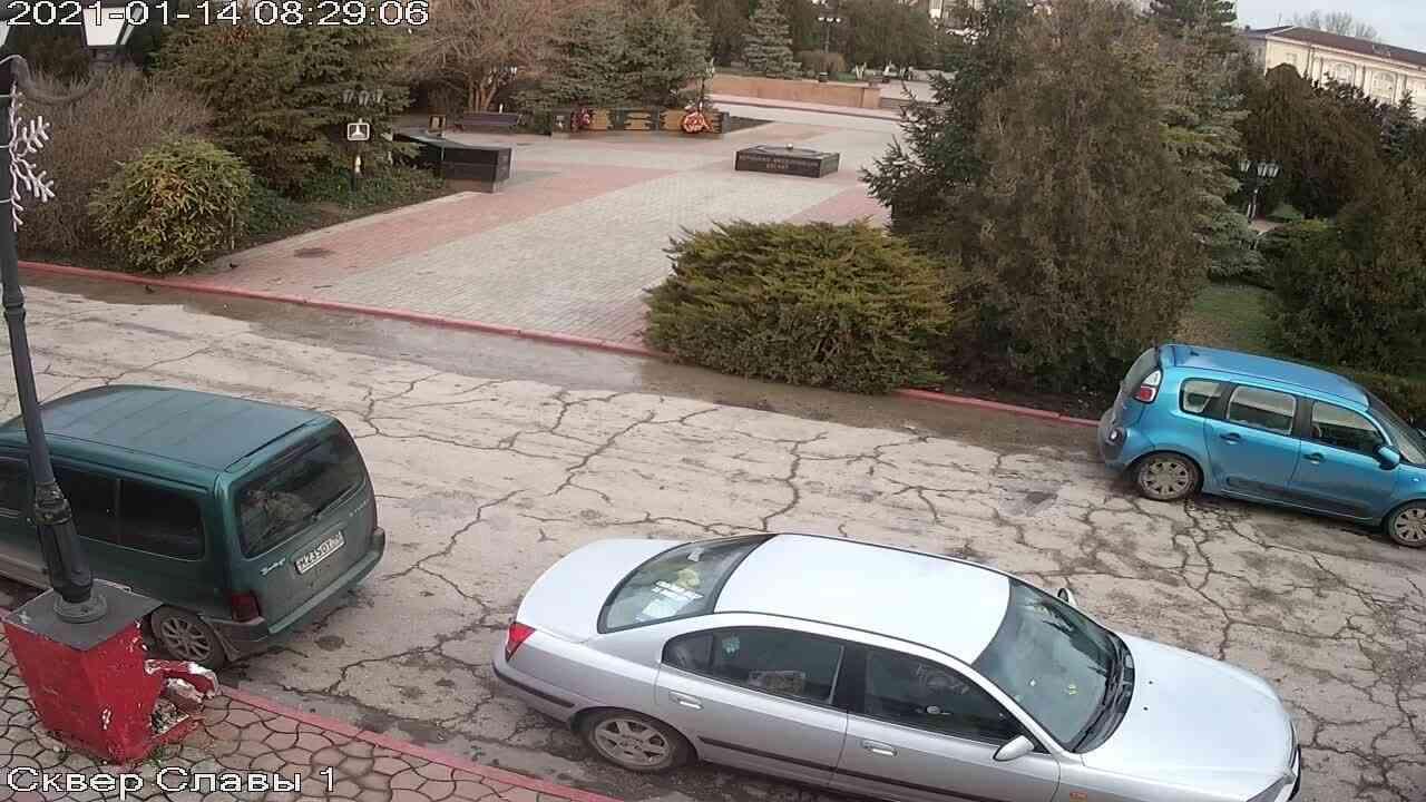 Веб-камеры Керчи, Сквер Славы, 2021-01-14 08:29:07