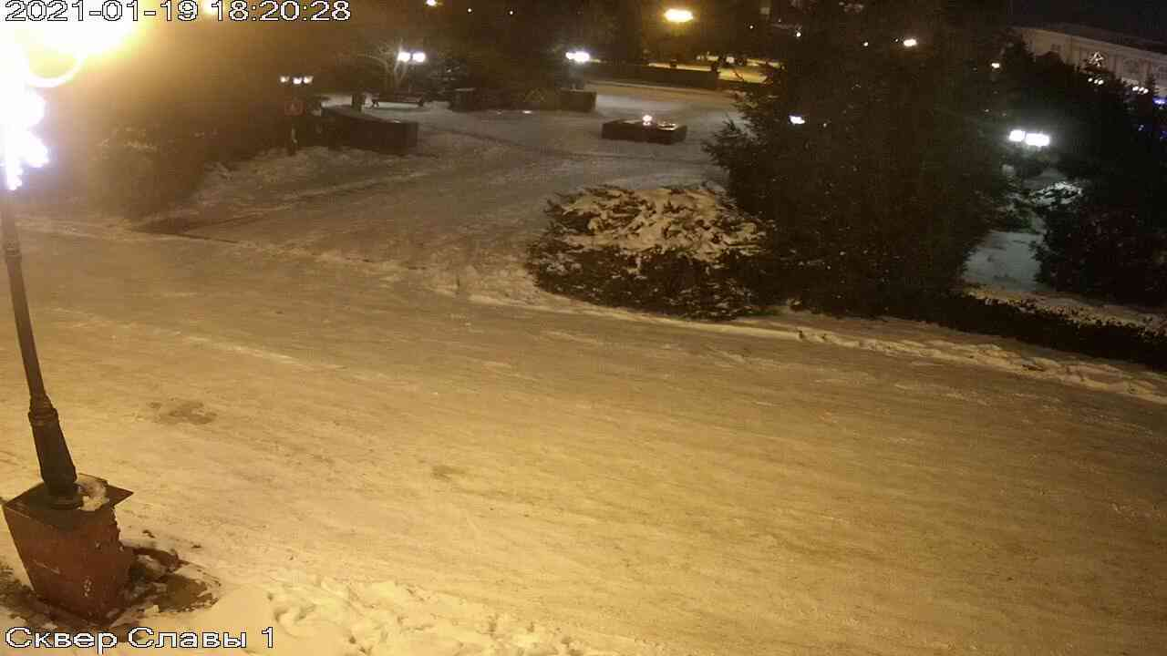 Веб-камеры Керчи, Сквер Славы, 2021-01-19 18:20:29