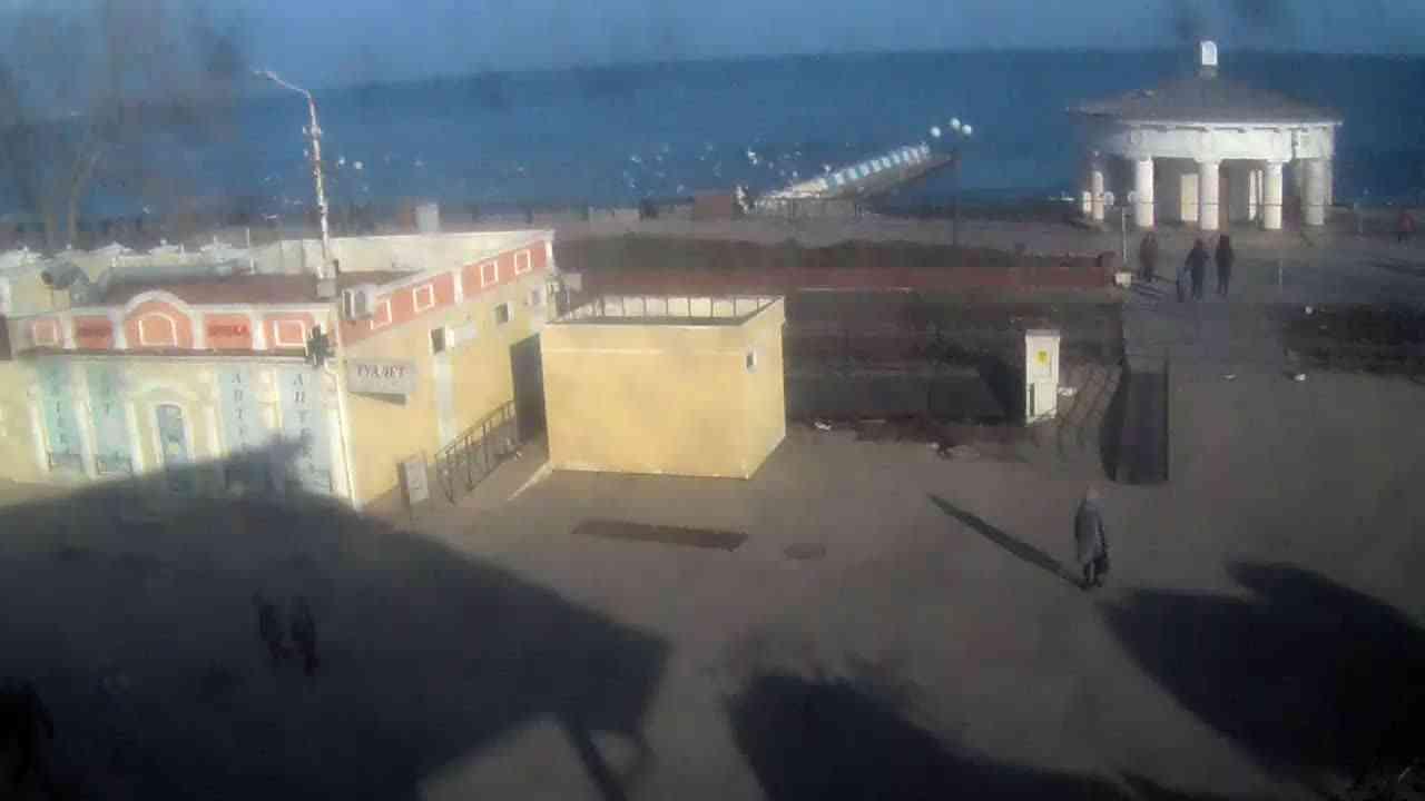 Веб-камеры Феодосии, Переезд и набережная, 2020-01-21 15:15:36