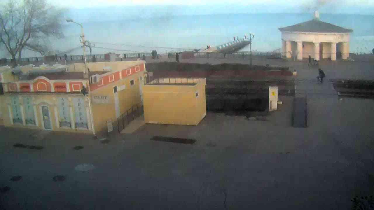Веб-камеры Феодосии, Переезд и набережная, 2020-01-21 16:55:35