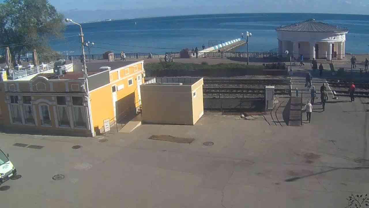 Веб-камеры Феодосии, Переезд и набережная, 2020-10-23 11:05:51