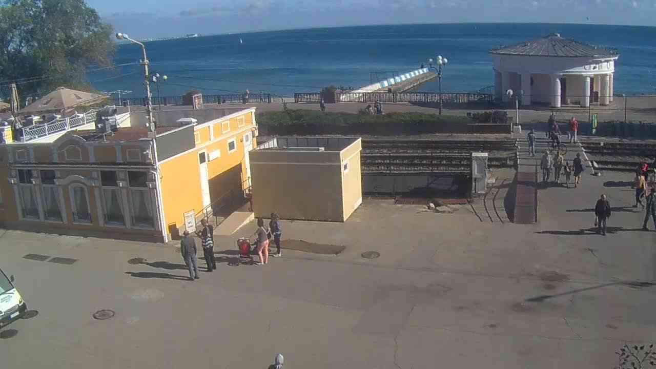 Веб-камеры Феодосии, Переезд и набережная, 2020-10-23 11:25:54
