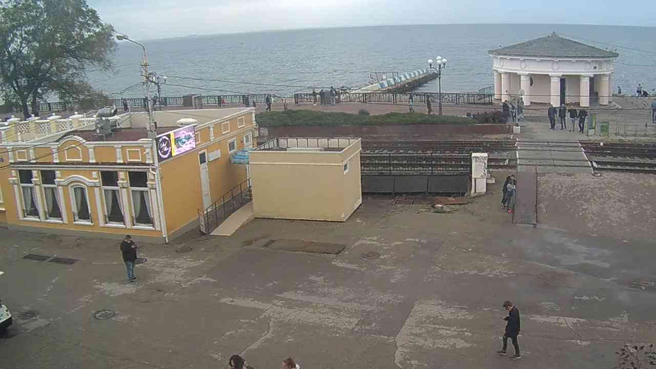 Веб-камеры Феодосии, Переезд и набережная, 2020-10-30 15:16:11