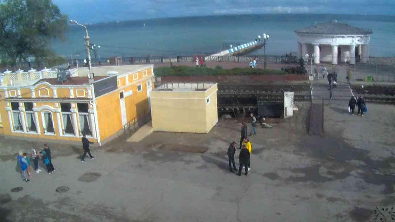 Веб-камеры Феодосии, Переезд и набережная, 2020-11-01 13:38:18