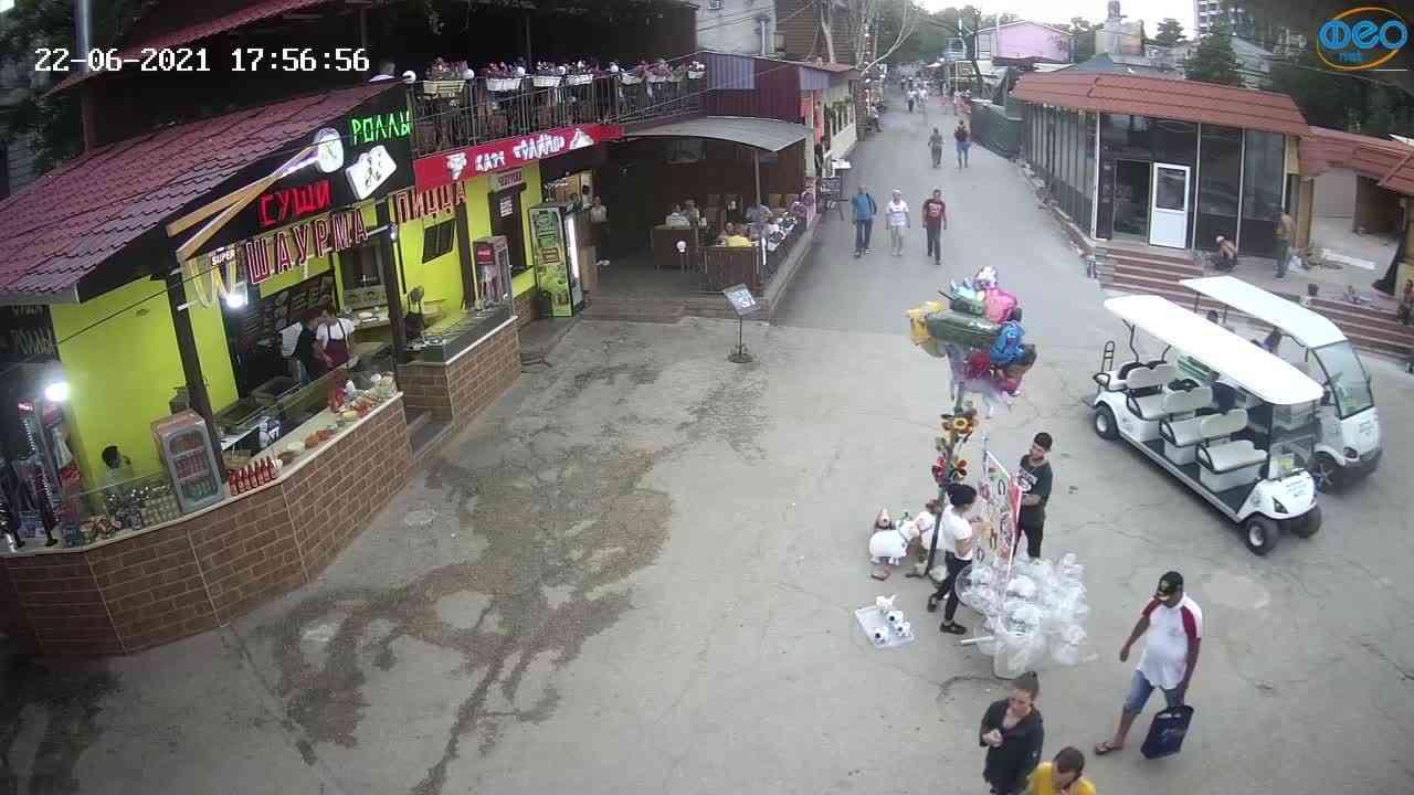 Веб-камеры Феодосии, Спуск от кинотеатра Украина, 2021-06-22 17:57:06
