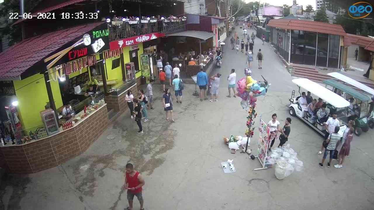 Веб-камеры Феодосии, Спуск от кинотеатра Украина, 2021-06-22 18:33:45